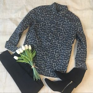 Banana Republic Animal Print button up